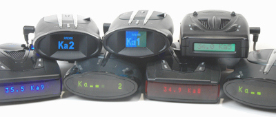 BEL (Beltronics)Vector 955, Cobra XRS 9960, XRS 9945, 9845, 9745, and the Whistler XTR-695SE, 690SE and Pro 78SE radar detectors