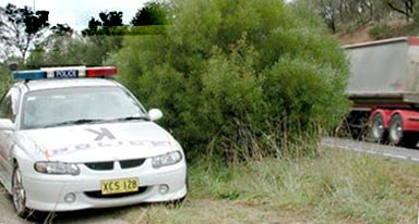 New South Wales Highway Patrol Holden Commodore police sedan