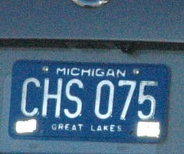 PhantomPlate Reflector Cover over a Michigan license plate