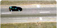 VASCAR marks on highway