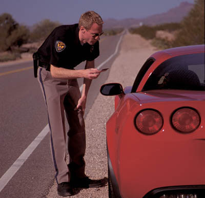 Corvette Z06 stopped for speeding