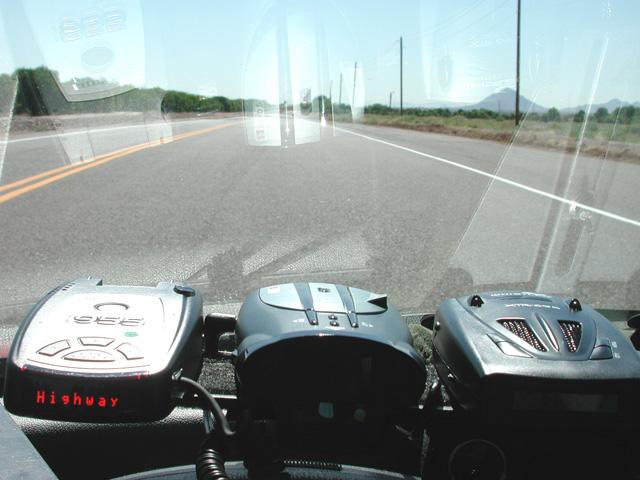 BEL, Cobra, Whistler radar detectors during testing