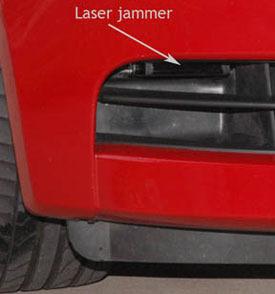 Blinder laser jammer installed on BMW 135i