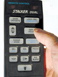 Stalker Dual SL radar remote control