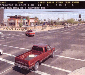 Violation photo taken by red light camera