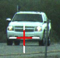 Chevrolet Silverado clocked by LTI TruCam laser