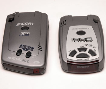 BEL (Beltronics) Vector 995 and Escort Passport 8500 X50 Black radar detectors