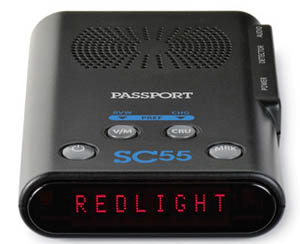 Escort Passport SC55 red light and speed camera detector with GPS