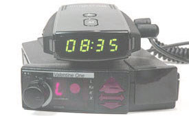 Valentine One (V1) radar detector with Whistler RLC-100 red light camera detector