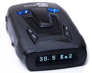 Whistler CR90 detects radar gun