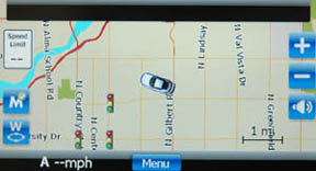 Escort Passport iQ navigation screen