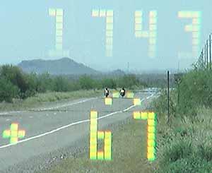 Kustom Signals Pro Laser 4 targets bikers