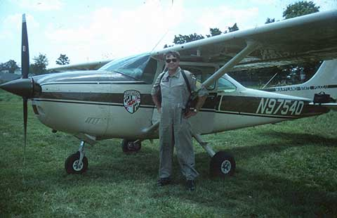 Maryland State Police pilot and airplane