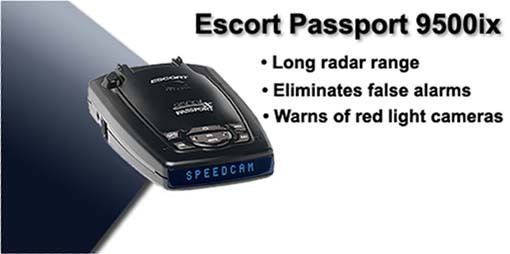 ESCORT PASSPORT 9500IX-BLUE best radar detector